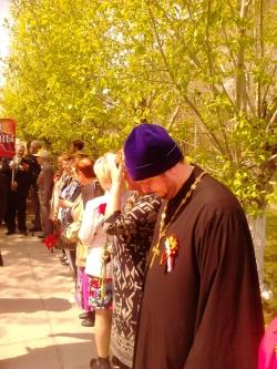 В микрорайоне «Ложок» города Искитима прошел митинг, посвященный 70-летию Великой Победы