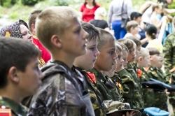 Открытие палаточного лагеря Военно-Патриотического клуба «Родина» на Святом Ключе