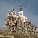 Строительство храма на Святом ключе. Осень 2013 года