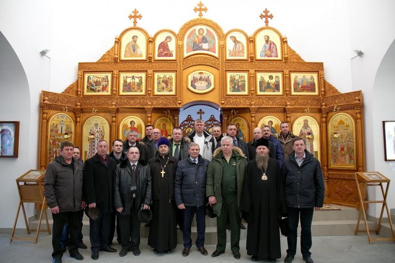 Встреча военных комиссаров Новосибирской области с Преосвященнейшим Лукой