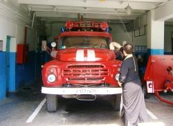 Священник Сергий Гащенко освятил пожарную часть №21 города Искитима