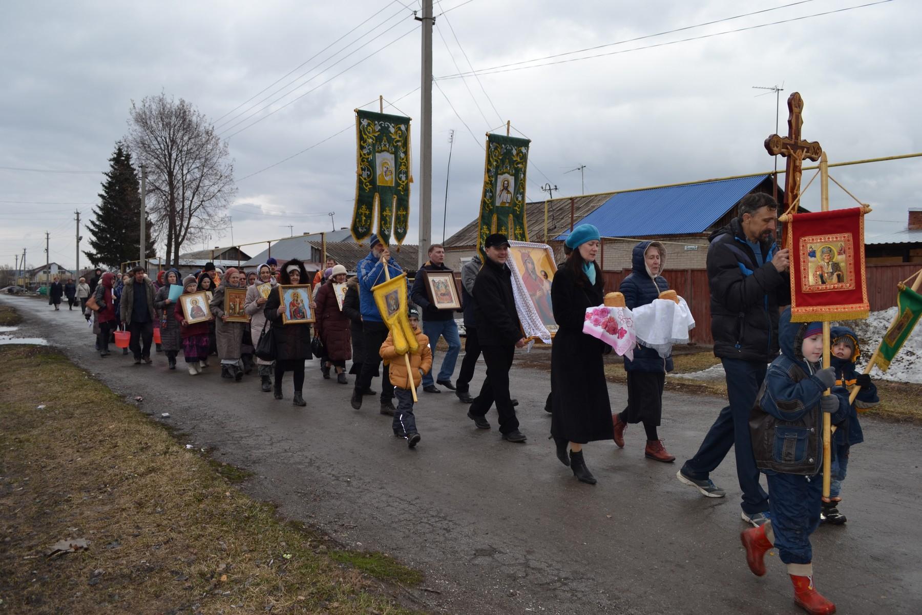 Пасхальный Крестный ход в деревне Бердь Искитимского района