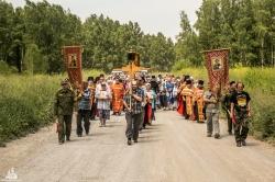 Крестный ход памяти святых царственных страстотерпцев прошел в Искитимской епархии