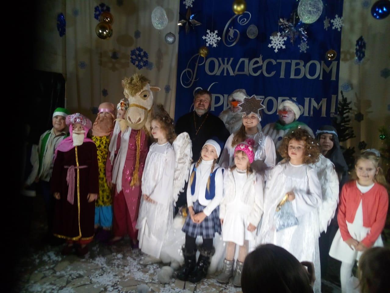 Рождество Христово в храме в честь иконы Божией Матери «Живоносный Источник»